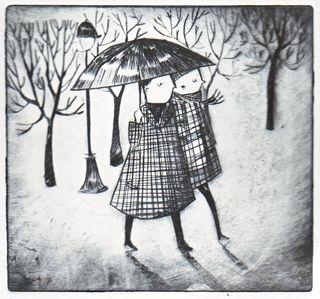 Rain in the tuileries